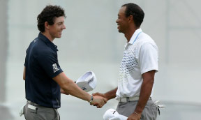 Rory and Tiger at 2012 BMW Championships